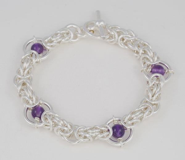 Kings Chain Medium Bracelet Variation with Stones