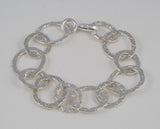 Oval Link Plaid Bracelet