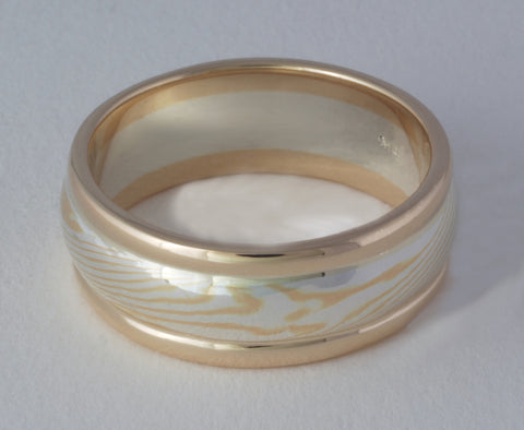 Mokume Gane Ring, Mokume Ring, Mokume Gane Wedding Ring