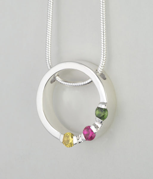 Custom: Simplicity Style Pendant with Birthstones