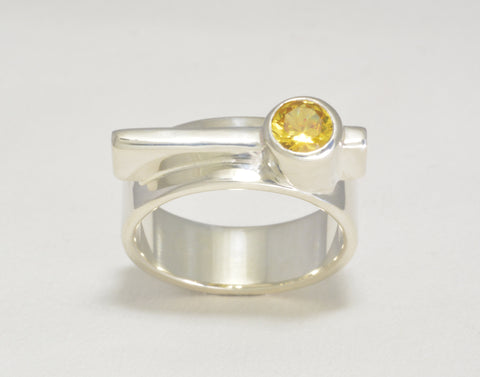 Custom: Simplicity Ring with Golden Topaz