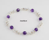 Small Double Jump Bracelet with Stones