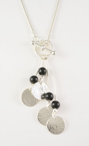 Custom: Summer Rain Lariat Style Pendant with Black Onyx