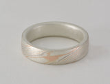 Mokume Gane Ring - Tri-Colour and Sterling Silver, Narrow