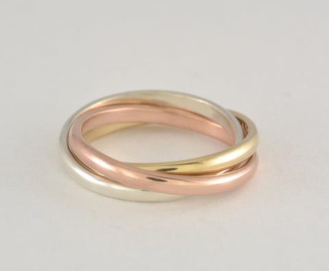 Custom: Triogold Embrace Ring
