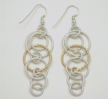 Boogie-Bling 2 Tone Earrings