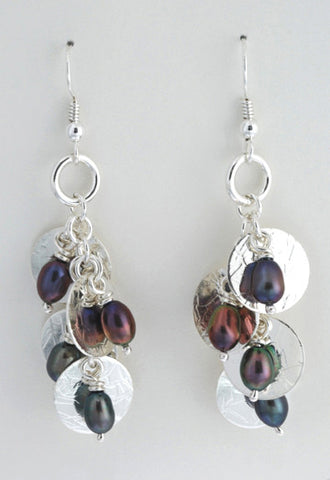 Cascading Drop Earrings with Pearls