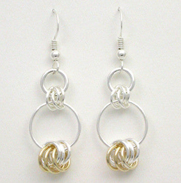 Criss-Cross 2 Tone Earrings