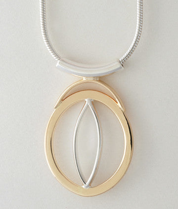 Custom: 14kt Yellow Gold and Sterling Silver Pendant