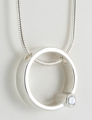 Custom: Simplicity Pendant with Tube Set Diamond
