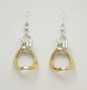 Celestial 2 Tone Earrings, Large