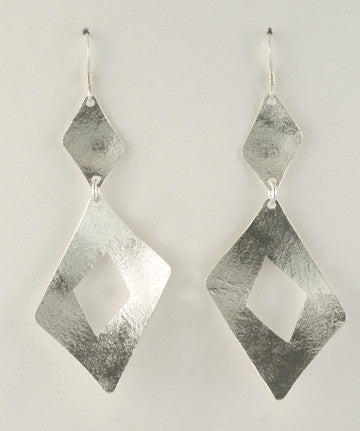 Diamond Shape Earrings, Long