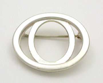 Elliptical Allure Brooch
