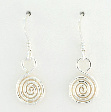 Egyptian Spiral Small Hook Earrings