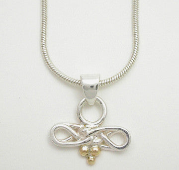 Eternal Love Celtic Knot 2 Tone Pendant