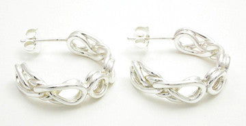 Eternal Love Celtic Knot Hoop Earrings, Large