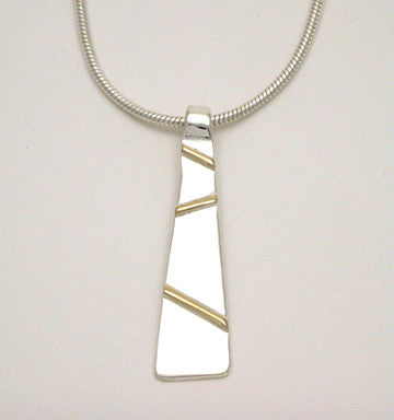 Gold Bars 2 Tone Pendant