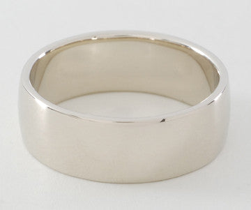 Gold Band Ring Wide, 14kt Yellow or White Gold