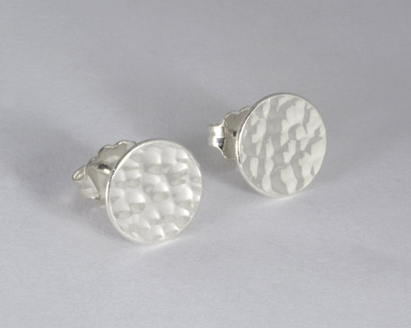 Small Hammered Circle Post Earrings