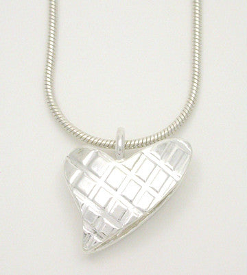 Heart Plaid Pendant