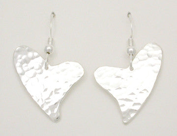 Heart - Faceted Hook Earrings