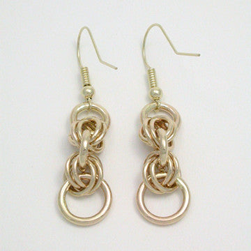 Hugs and Kisses 14kt Gold Earrings (XOXO)