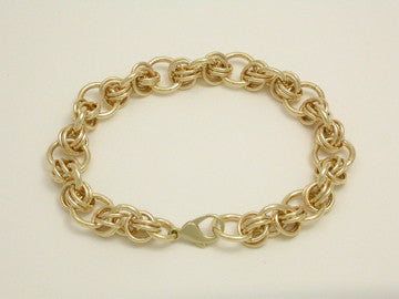 Hugs Kisses Bracelet 14kt Gold, Small (XOXO)