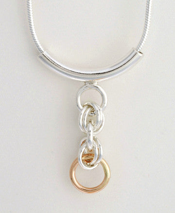 Hugs and Kisses Two Tone Pendant (XOXO)