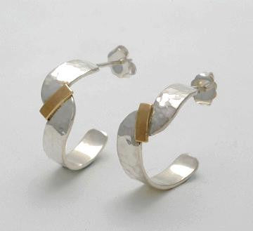 Inseparable 2 Tone Hoop Earrings