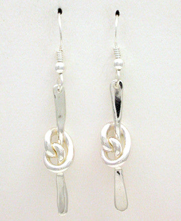 Knot Series: Pretzel Knot Earrings