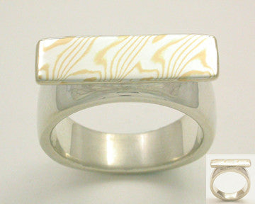 Mokume-Gane Accent Ring