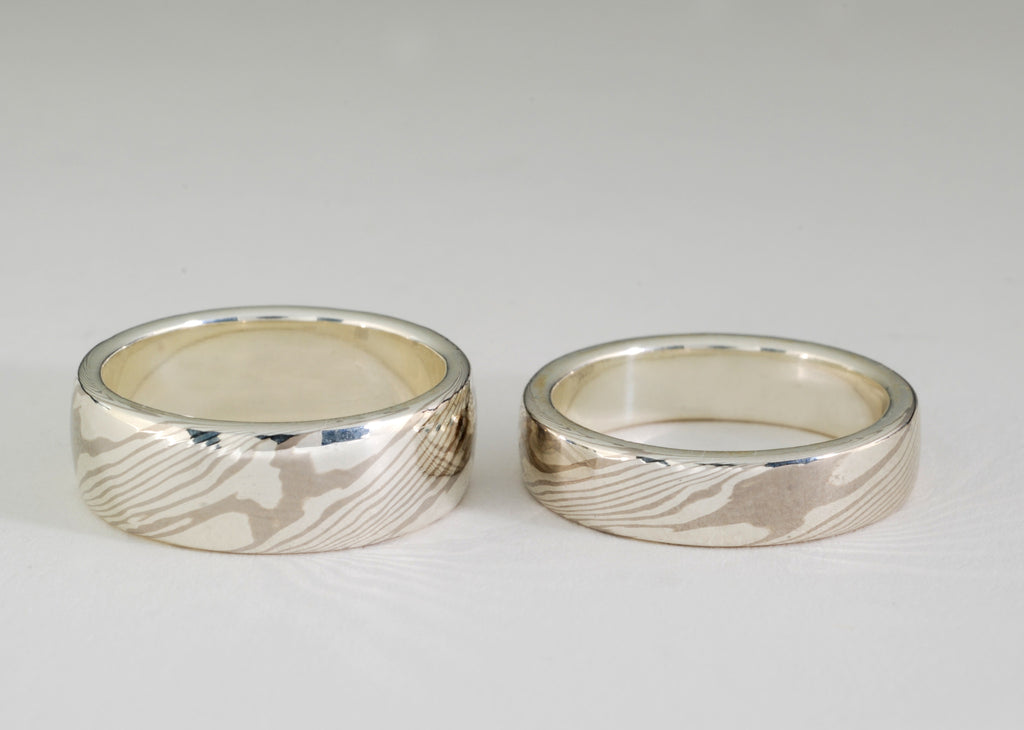 woodgrain styles ring gane new york rings mokume wedding