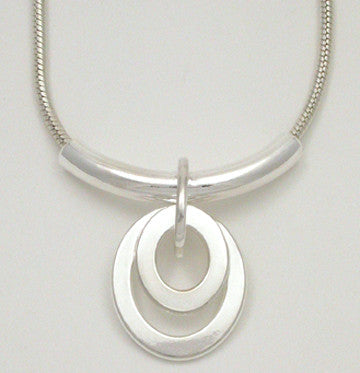 Oval Link Double Pendant