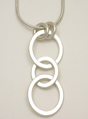 Oval Link Long Pendant