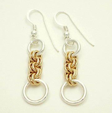 Small Double Jump 2 Tone Earrings