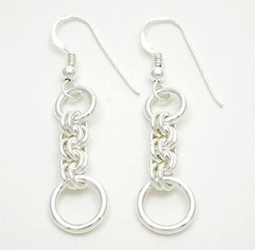 Small Double Jump Earrings