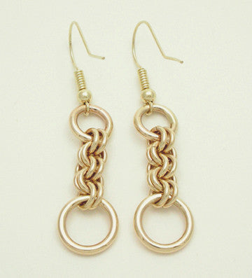 Small Double Jump 14 Karat Gold Earrings