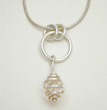 Spiral Bead Single Pendant