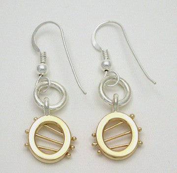 Starlight 2 Tone Earrings, Small