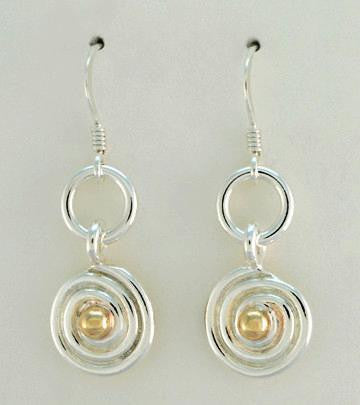 Swirl 2 tone Earrings