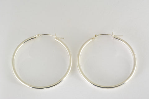 Hoop Earrings v-notch, Large