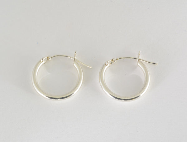 Hoop Earrings v-notch, Small