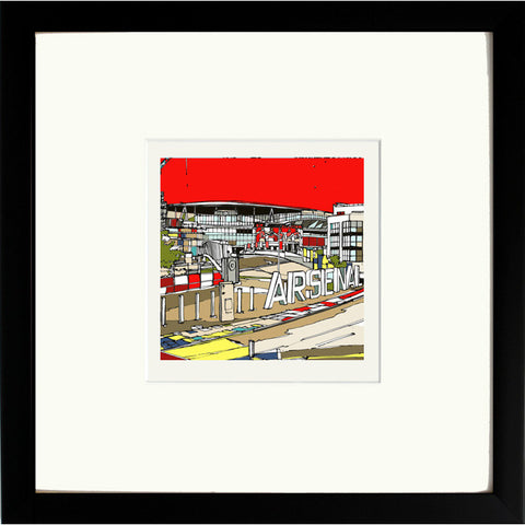 Arsenal Ashburton Grove Stadium Print Black Frame