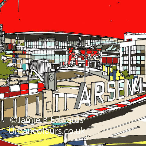 Arsenal FC's Ashburton Grove Print image of