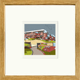 Aston Villa's Villa Park Print Framed in Oak image of