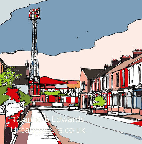 Print of Middlesborough FC's Ayresome Park Stadium image of