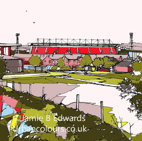 Print of Barnsley FC's Oakwell Ground image of