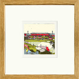 Print of Barnsley FC's Oakwell Ground oak Framed image of