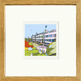 Print of Birmingham City FC's St Andrews Stadium in Black Frame image of
