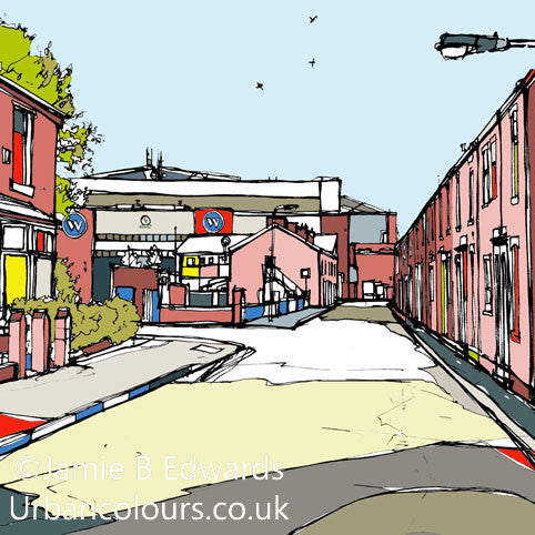 Blackburn Rovers FC's Ewood View Print image of
